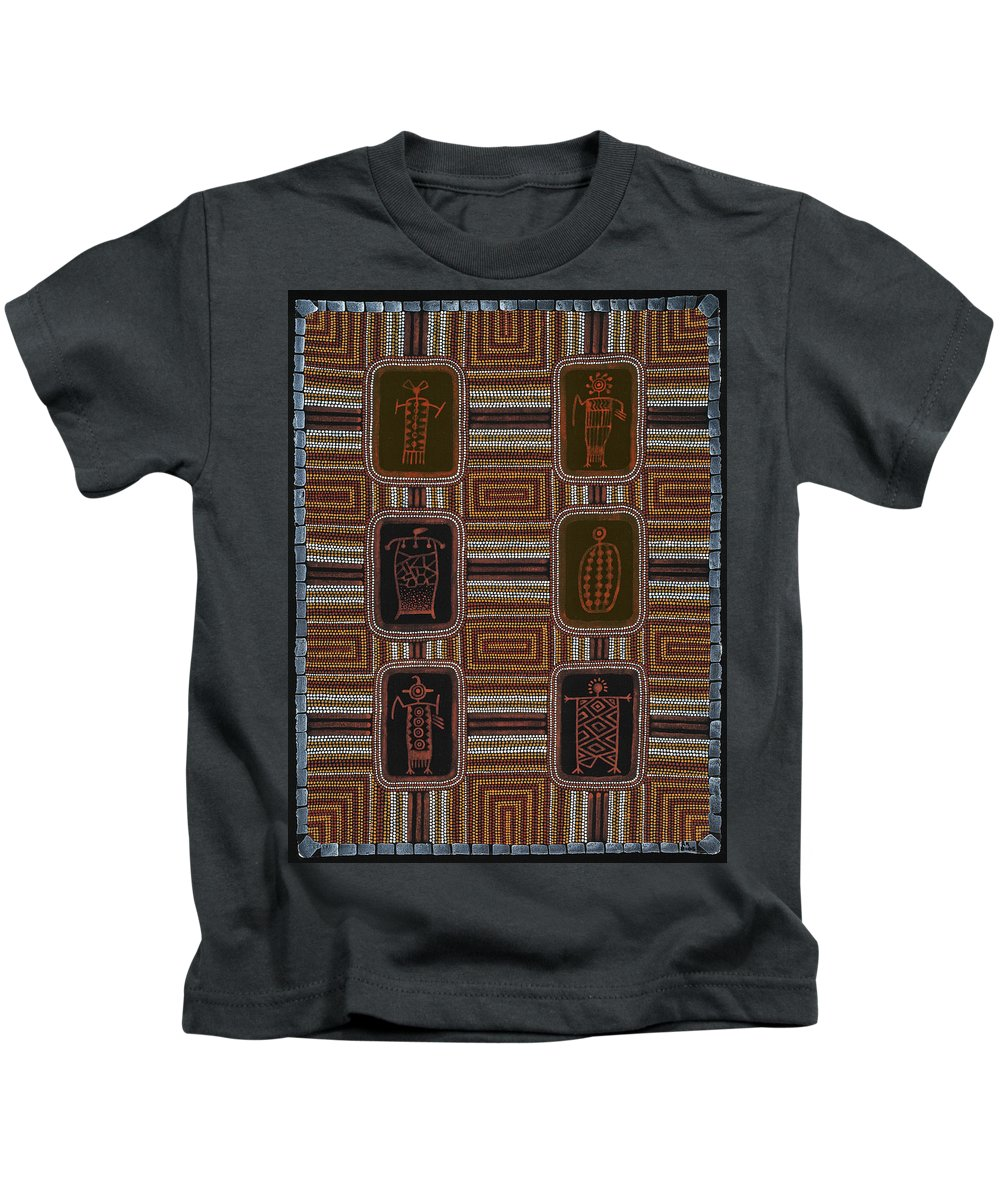 Spiritual Kids T-Shirt featuring the painting Shaman II by Roger Knox