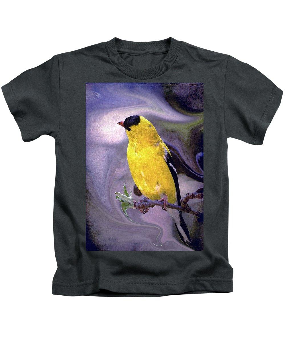 Enjoy Kids T-Shirt featuring the photograph She Enjoyed The Softness Of Twilight... by Arthur Miller
