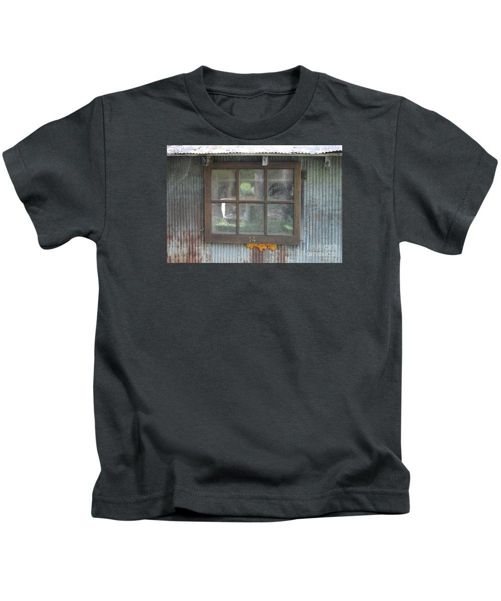 Country Kids T-Shirt featuring the photograph Shed Window by Jost Houk