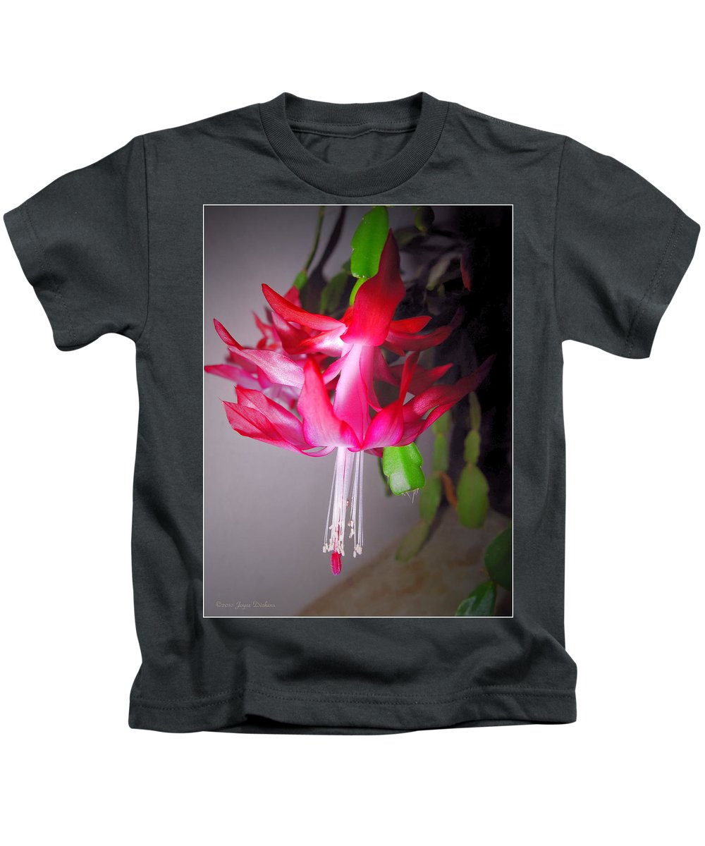 Cacti Kids T-Shirt featuring the photograph Shimmering Beauty by Joyce Dickens
