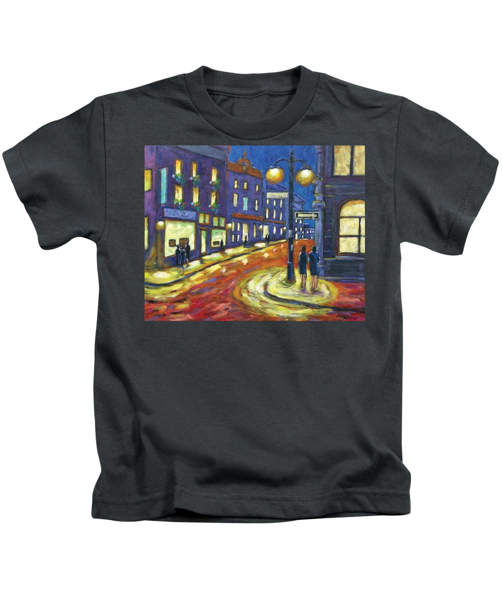 Night Kids T-Shirt featuring the painting Shimmering Night by Richard T Pranke