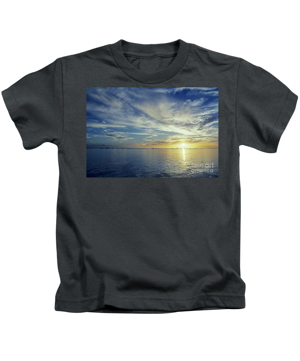 Above Kids T-Shirt featuring the photograph Shining Through by Carl Shaneff - Printscapes