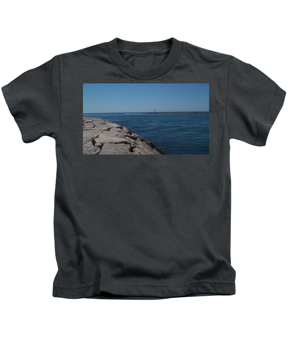 Waterscape Kids T-Shirt featuring the photograph Shinnecock Inlet by David Zuhusky