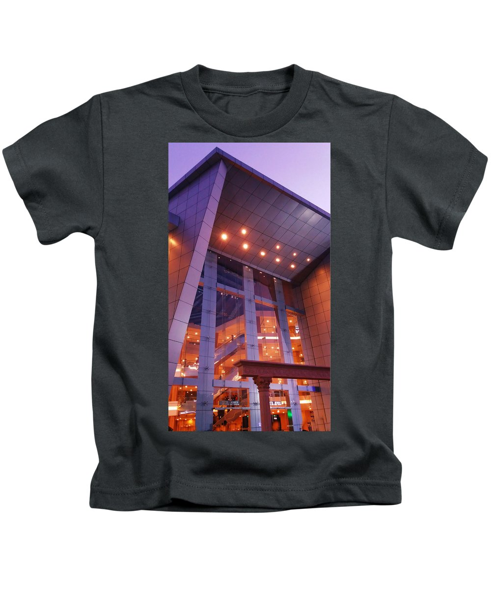 Mall Kids T-Shirt featuring the photograph Shopping Mall by Nick Photography