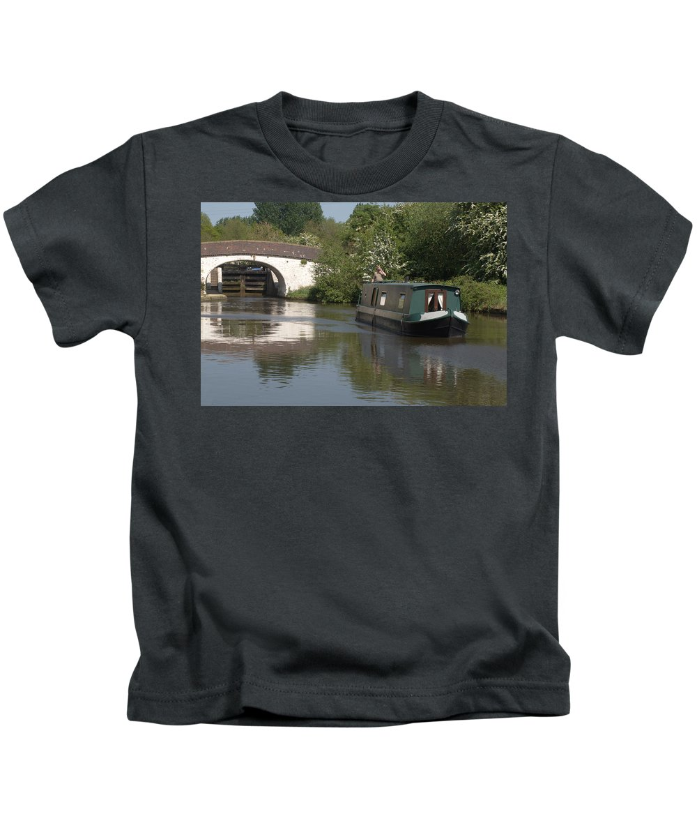 Narrowboat Kids T-Shirt featuring the photograph Shouldnt Drink And Drive by Chris Day