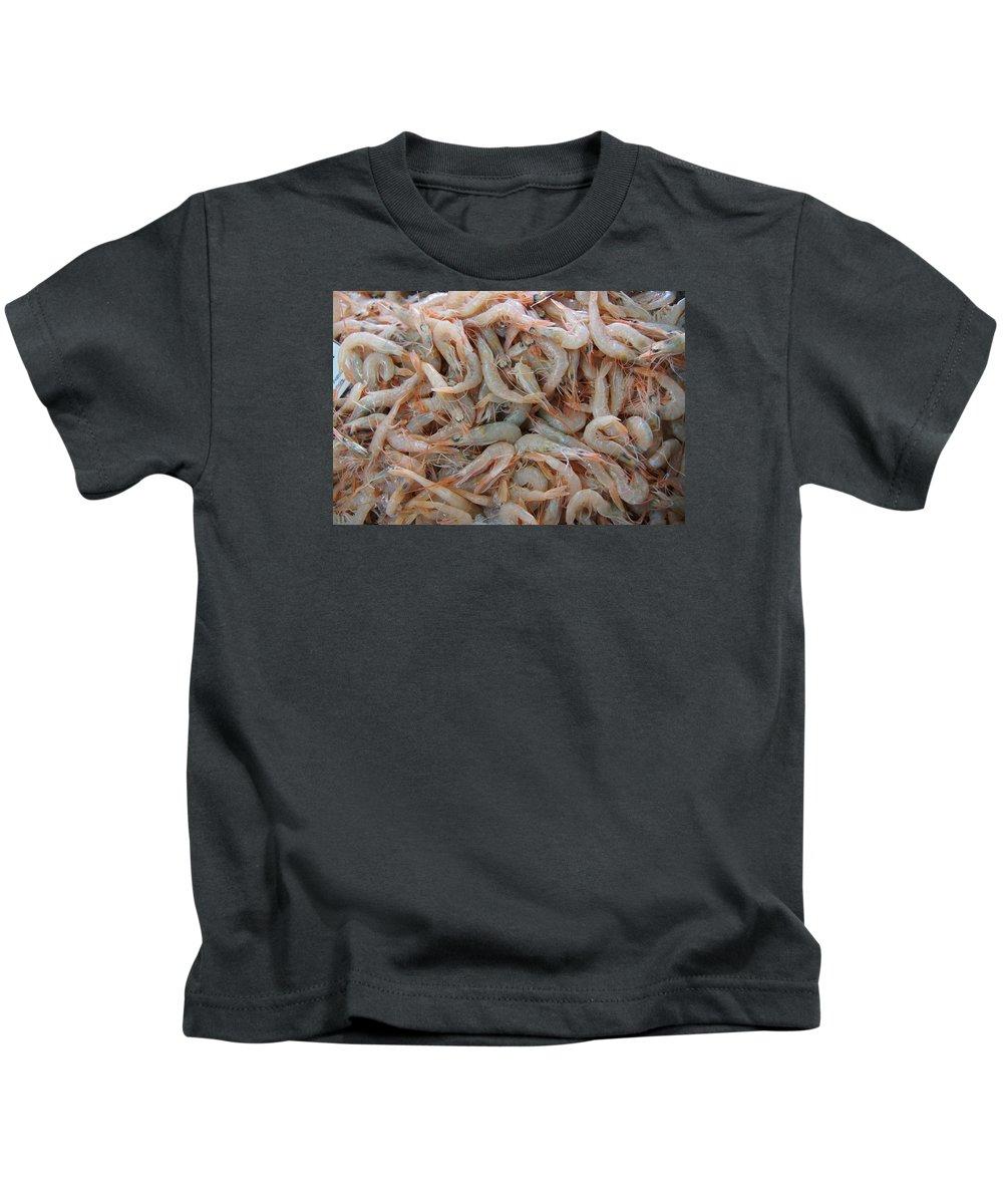Shrimp Kids T-Shirt featuring the photograph Shrimp Mess by Ron Koivisto
