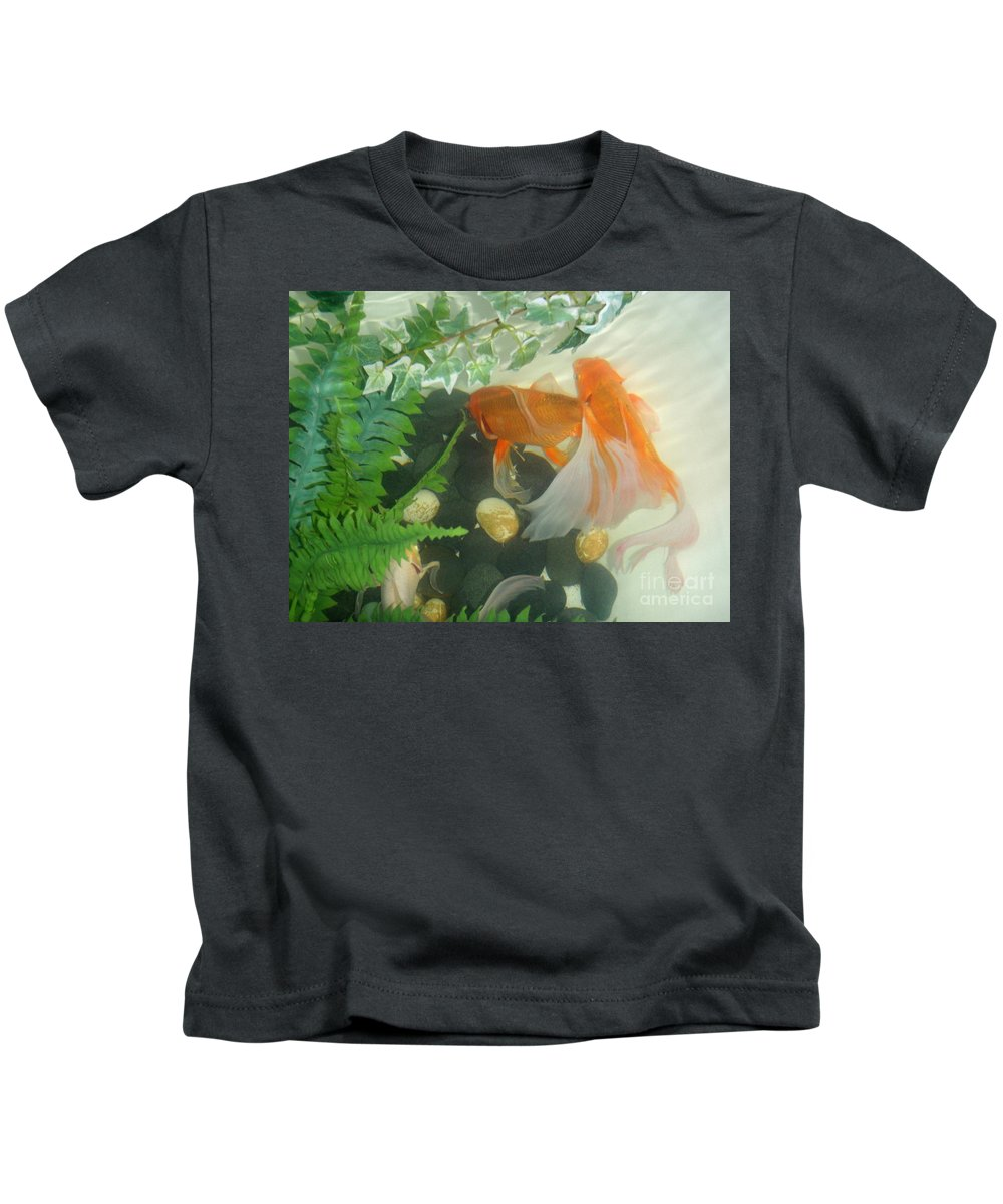 Orange Kids T-Shirt featuring the photograph Siamese Fighting Fish 2 by Mary Deal