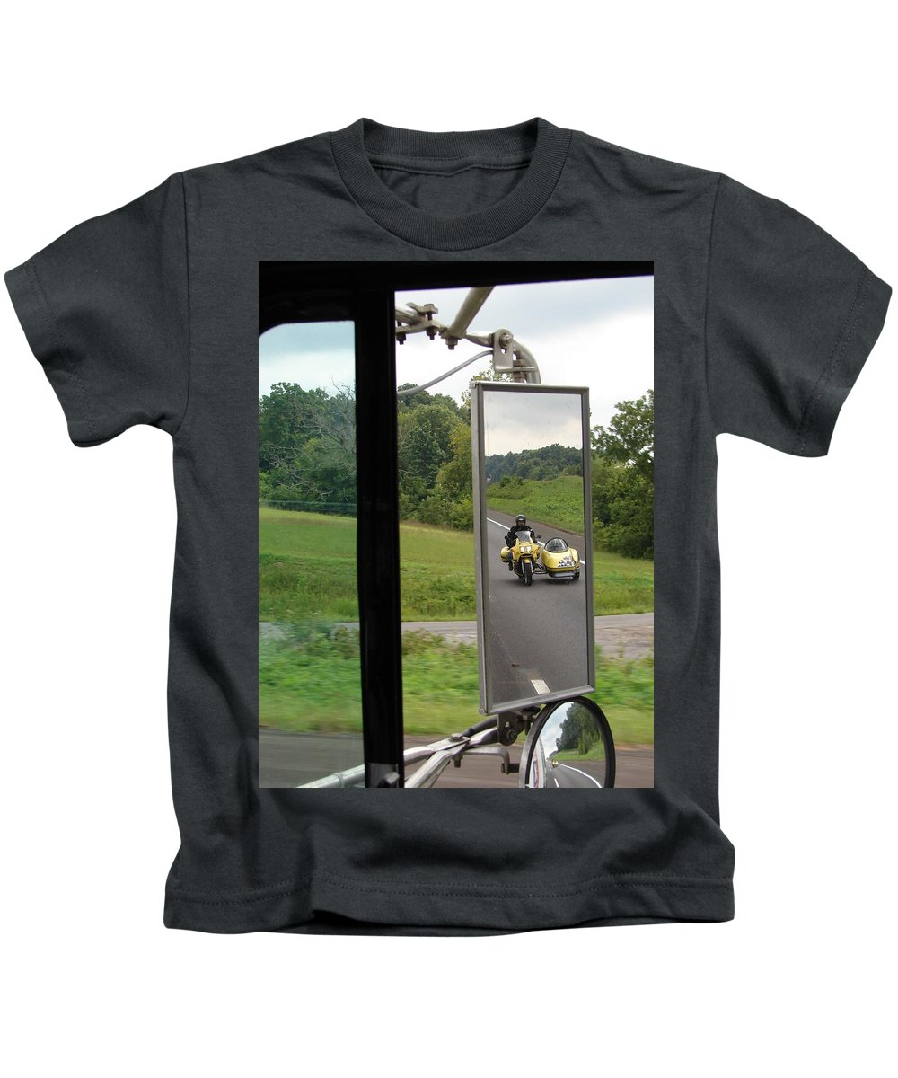 Truck Kids T-Shirt featuring the photograph Side Car Framed by J R  Seymour