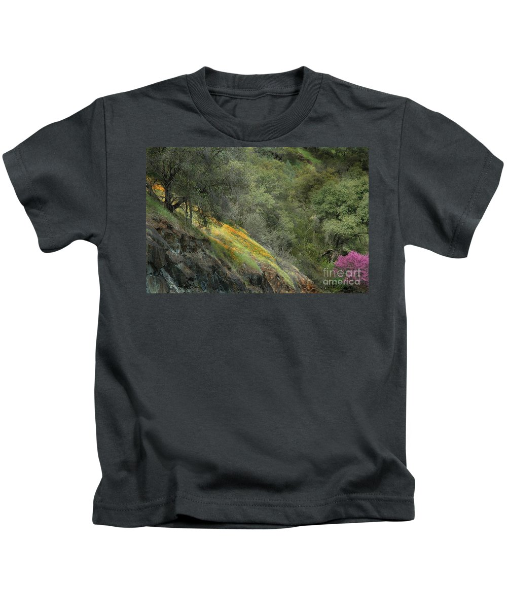 California Kids T-Shirt featuring the photograph Sierra Poppies by Norman Andrus