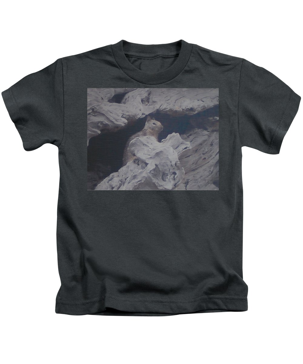 Squirrel Kids T-Shirt featuring the photograph Silent Observer by Pharris Art