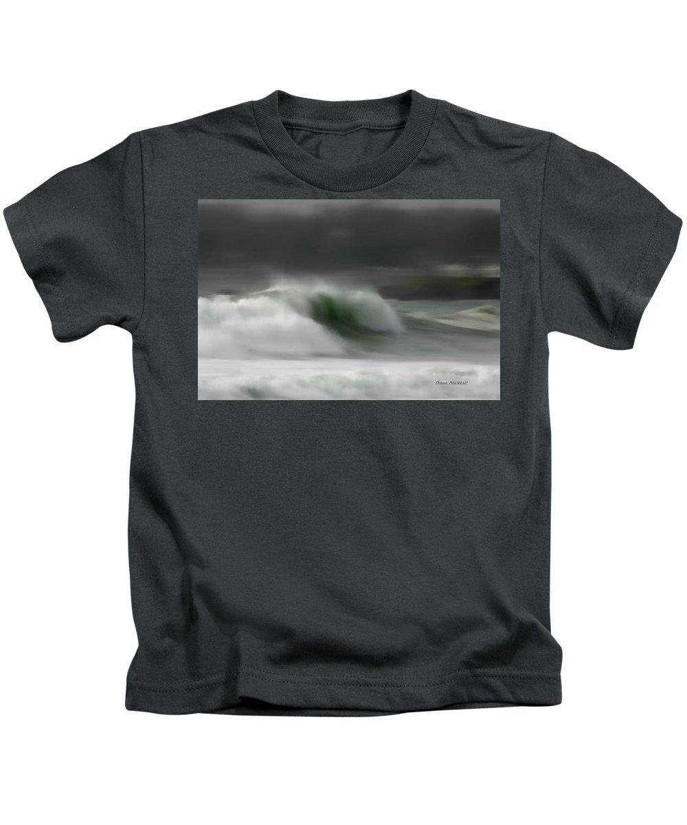 Ocean Kids T-Shirt featuring the photograph Silent Rush by Donna Blackhall