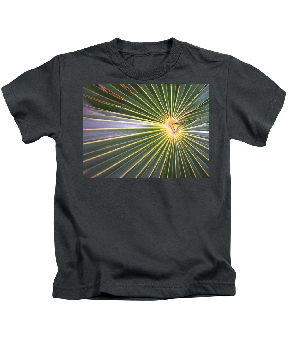 Nature Kids T-Shirt featuring the photograph Silver Palm by Kimberly Mohlenhoff