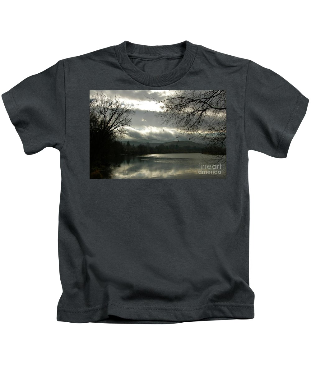 Prosser Kids T-Shirt featuring the photograph Silver River by Carol Groenen