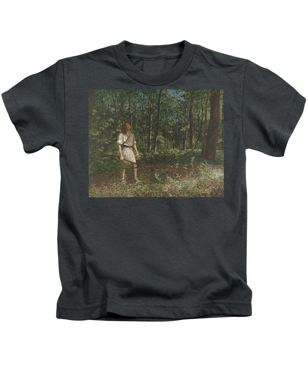 Landscape Kids T-Shirt featuring the painting Simple Pleasures by Martin Bellmann