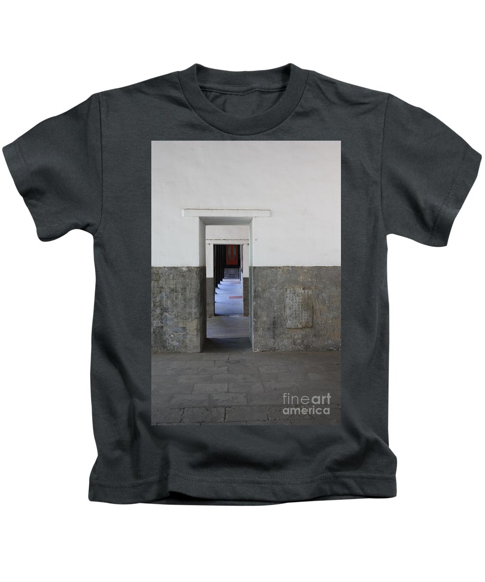 Temple Doors Kids T-Shirt featuring the photograph Simplicity by Carol Groenen