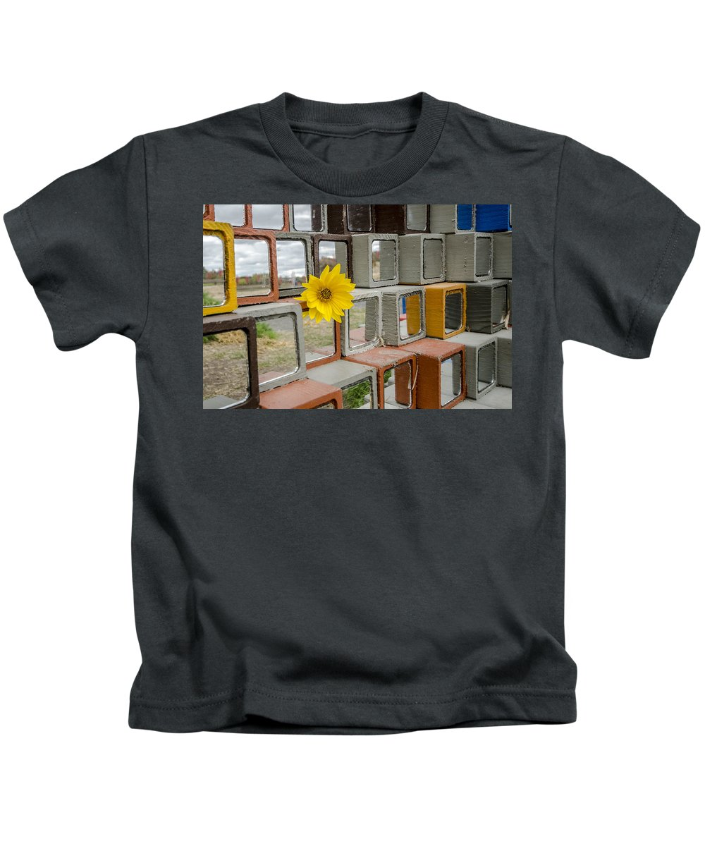 Kids T-Shirt featuring the photograph Single Flower by Joel Rood