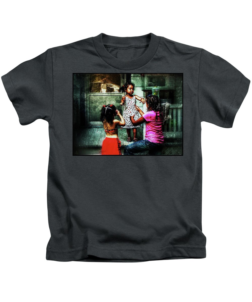 Sisters Kids T-Shirt featuring the photograph Sisters by Al Harden