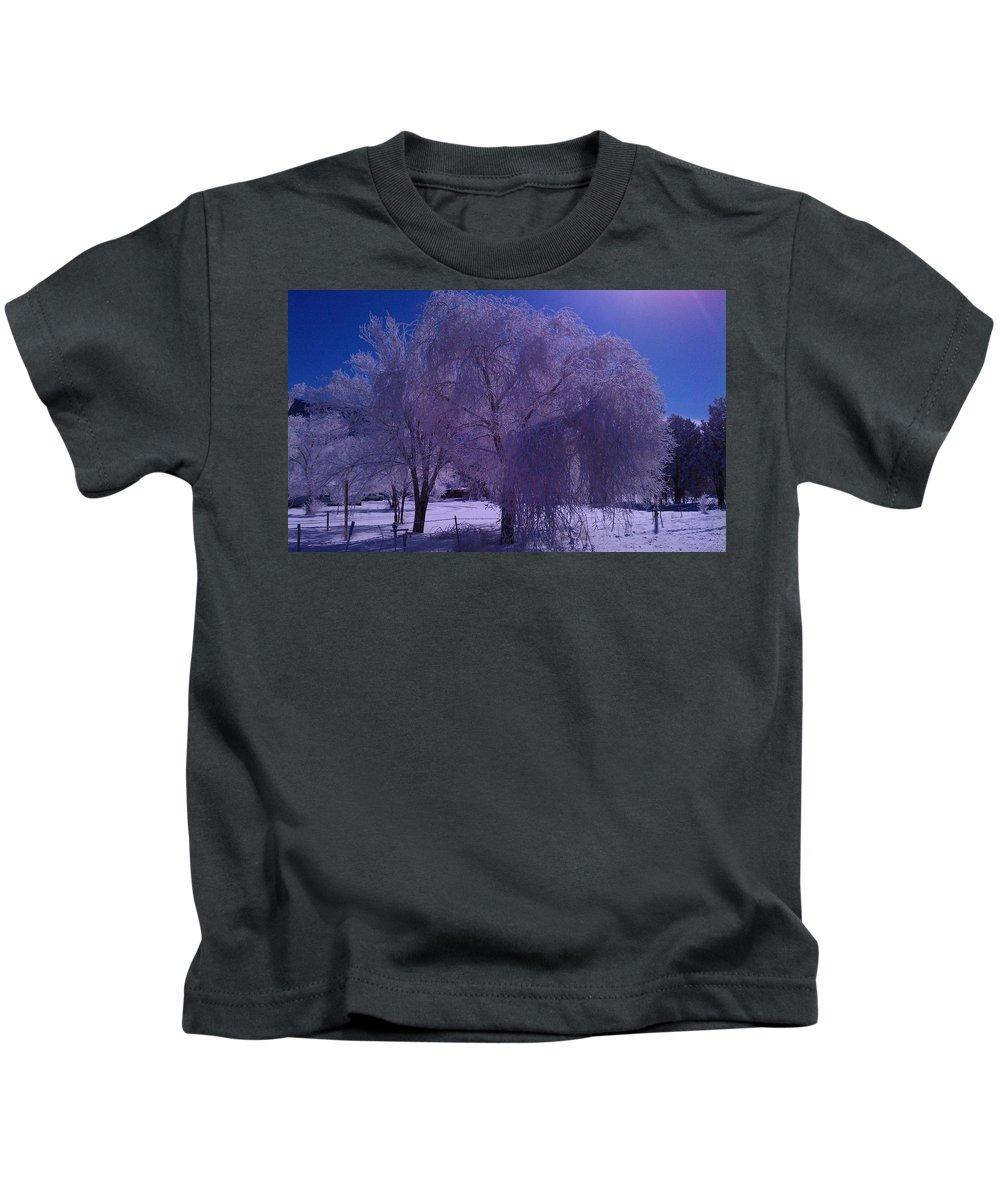 Landscape Kids T-Shirt featuring the photograph Six Below Zero by Dennis Boyd