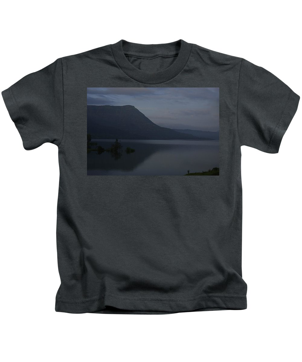 Tranquil Kids T-Shirt featuring the photograph Skc 3955 A Tranquil Lakeside by Sunil Kapadia