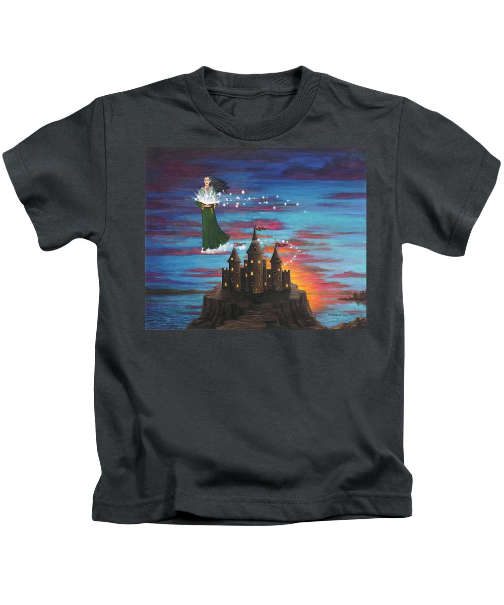 Wizard Kids T-Shirt featuring the digital art Sky Walker by Roz Eve