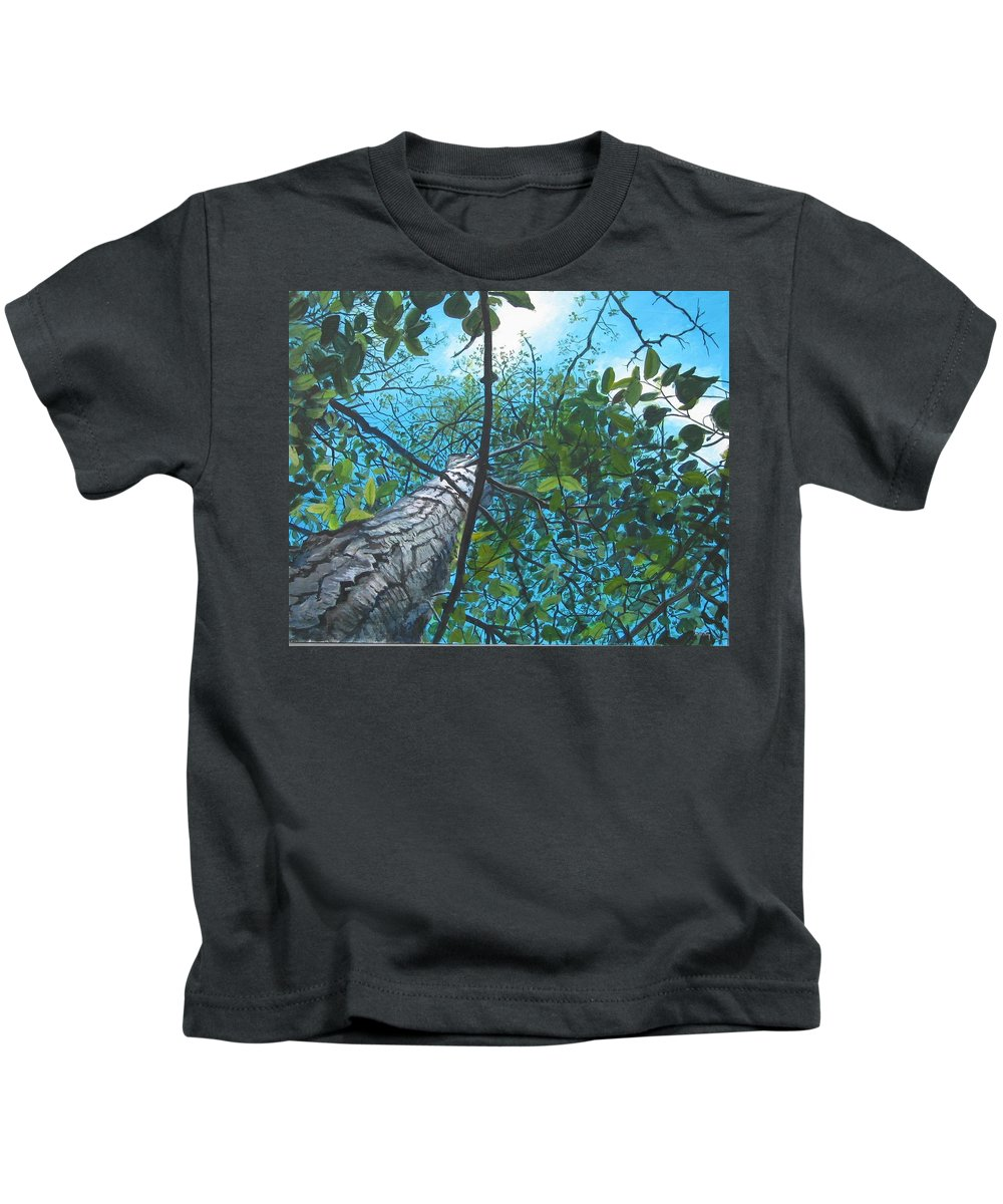 Landscape Kids T-Shirt featuring the painting Skyward by William Brody