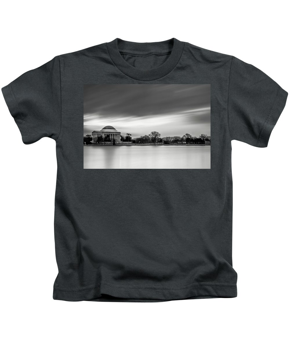 Black And White Kids T-Shirt featuring the photograph Sleeping Giant by Edward Kreis