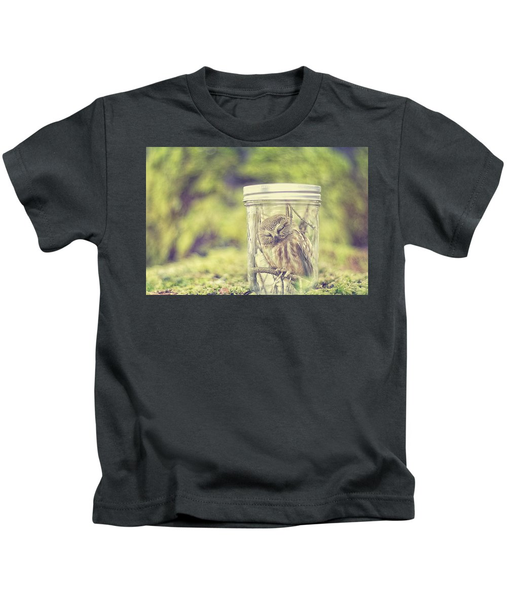 Composite Kids T-Shirt featuring the photograph Sleepy by Carrie Ann Grippo-Pike
