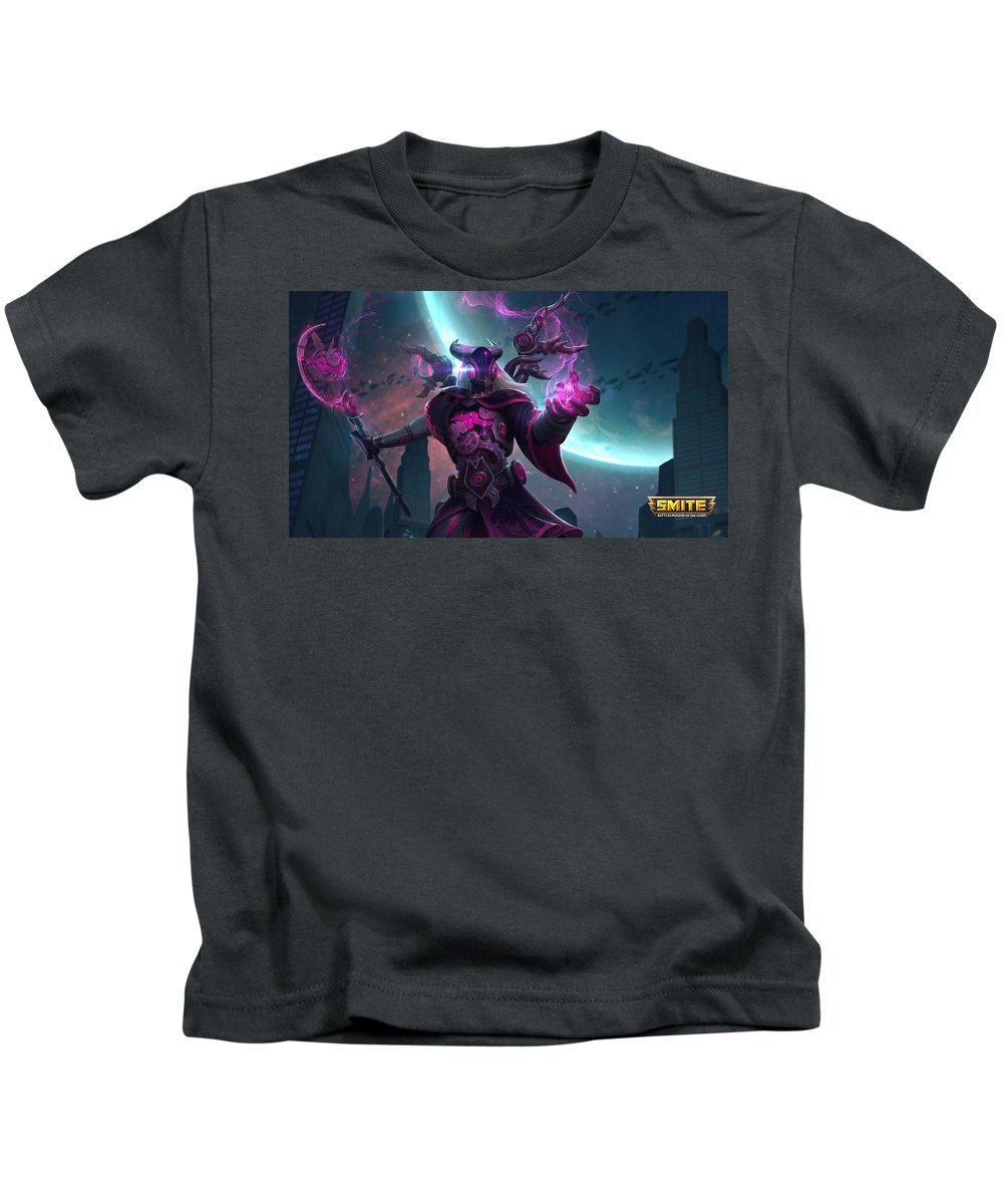 Smite Kids T-Shirt featuring the digital art Smite by Dorothy Binder
