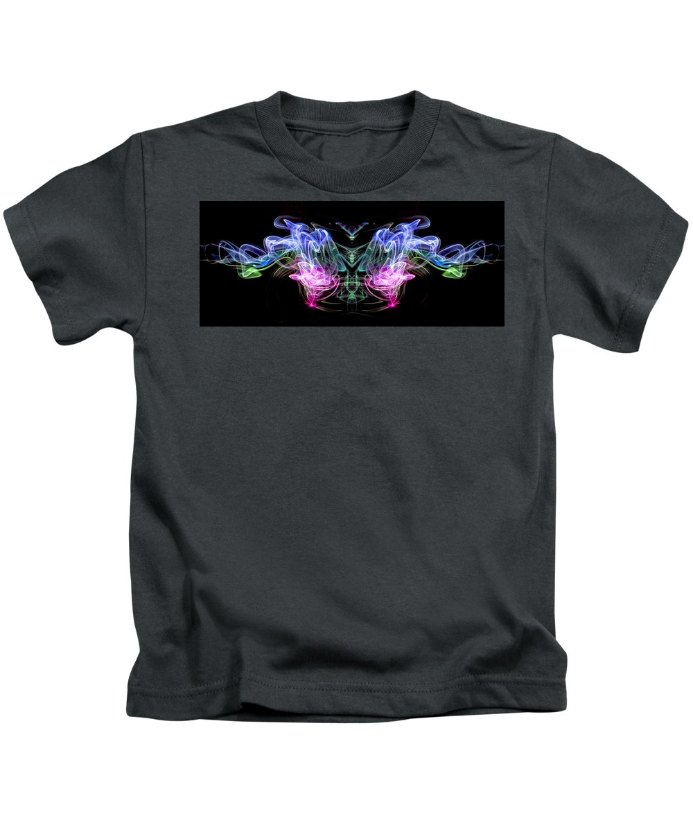 Fine Art Photography Kids T-Shirt featuring the photograph Smoke #1 by John Strong