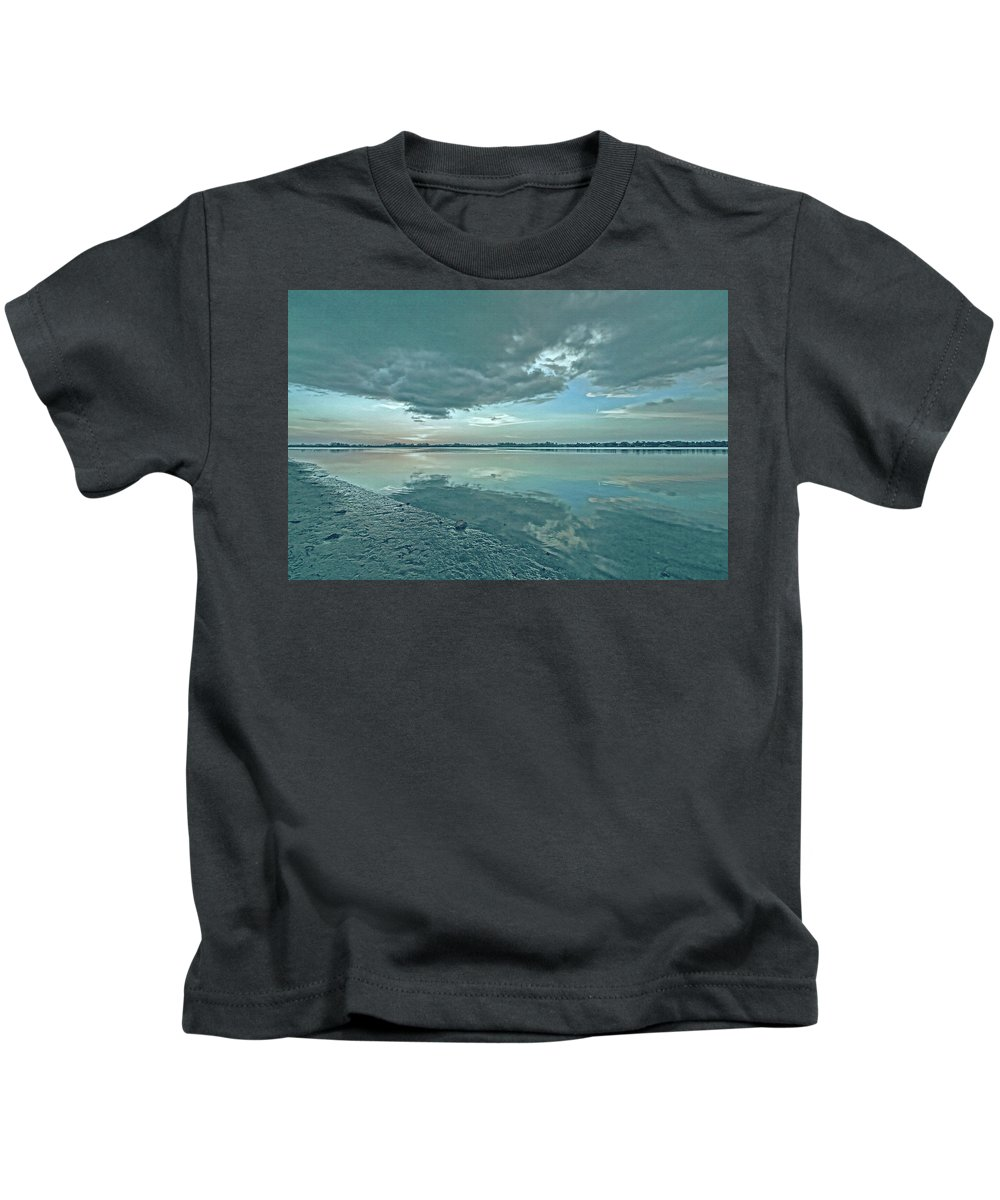 Blue Sky Kids T-Shirt featuring the photograph Smooth Blues by HH Photography of Florida