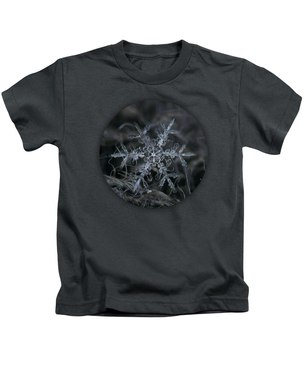 Snowflake Kids T-Shirt featuring the photograph Snowflake 2 Of 19 March 2013 by Alexey Kljatov