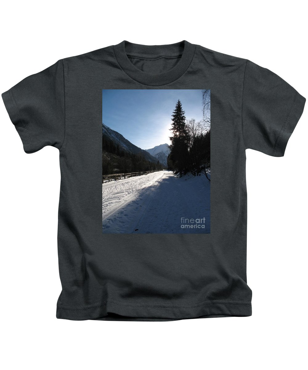 Snow Kids T-Shirt featuring the photograph Snowy Track by Christiane Schulze Art And Photography