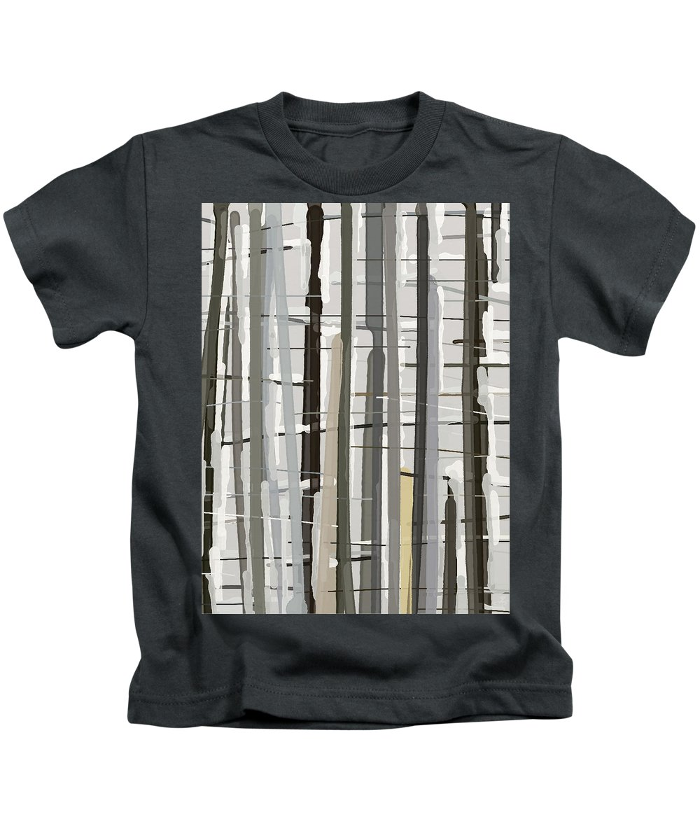 Snow Kids T-Shirt featuring the painting Snowy Trees by Tafadzwa Ziona
