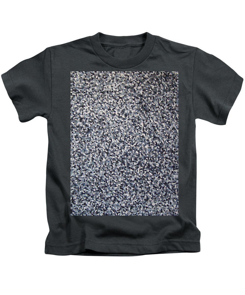 Abstract Kids T-Shirt featuring the painting Soft Grey Scale by Dean Triolo