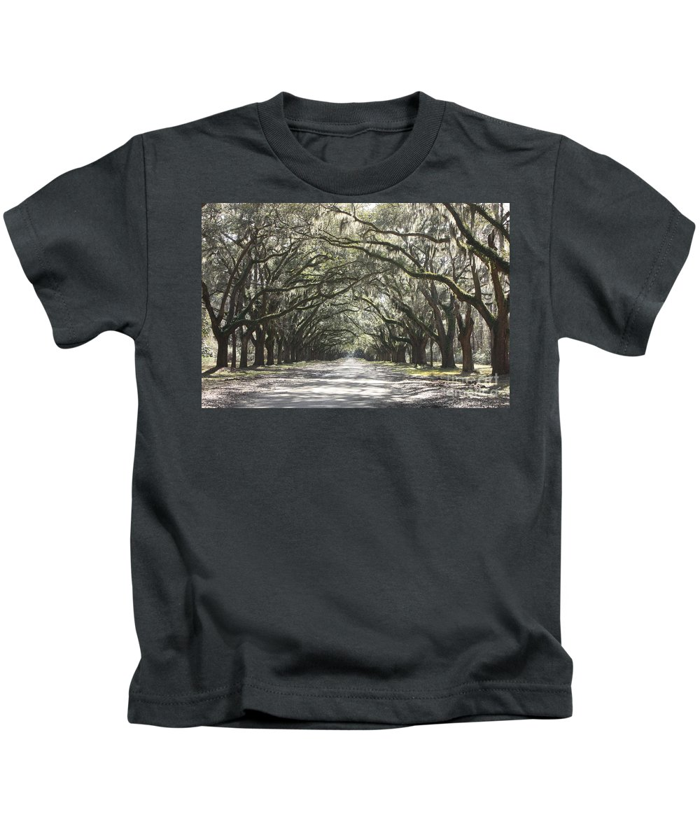 Live Oaks Kids T-Shirt featuring the photograph Soft Southern Day by Carol Groenen