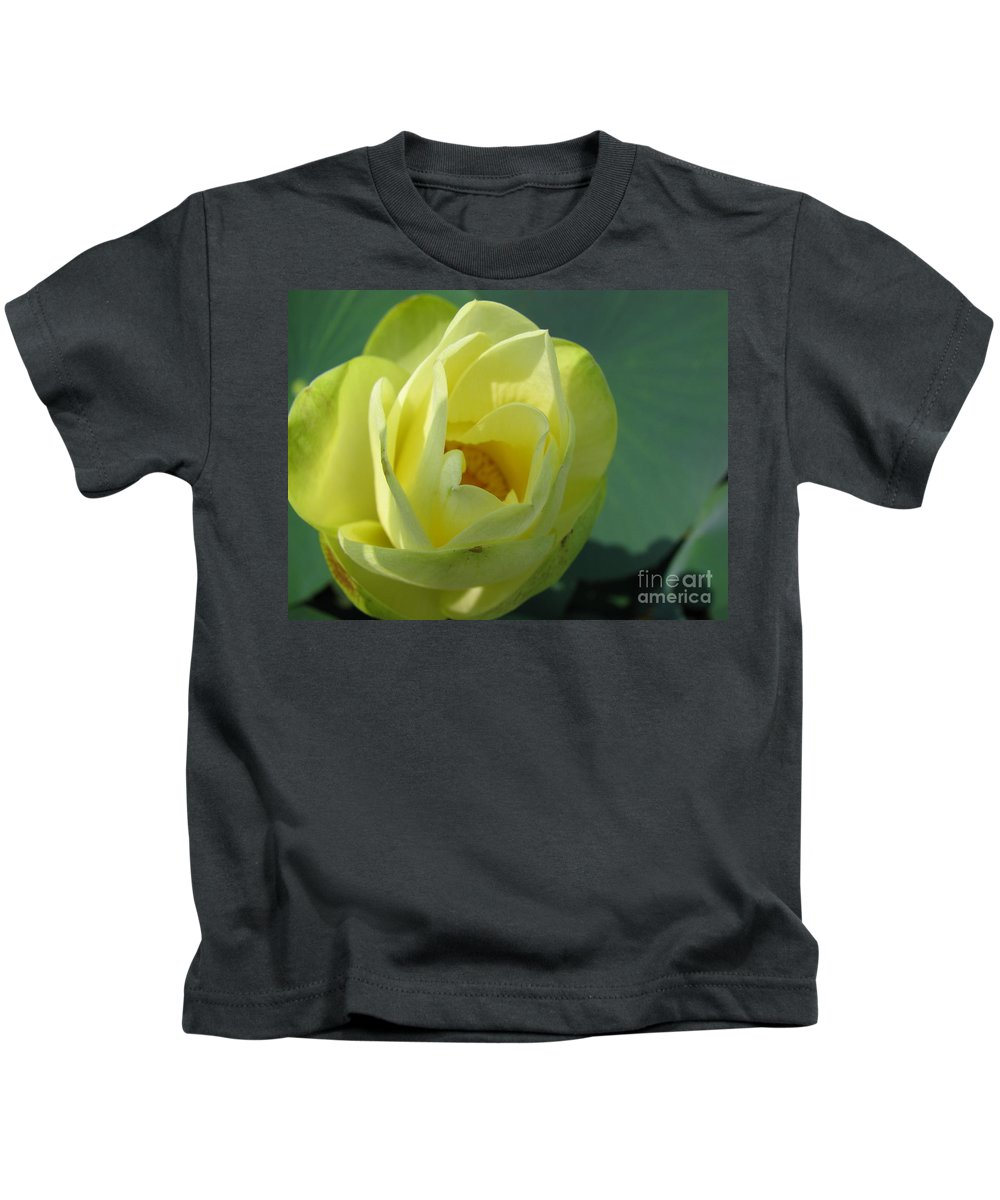 Lotus Kids T-Shirt featuring the photograph Softly by Amanda Barcon