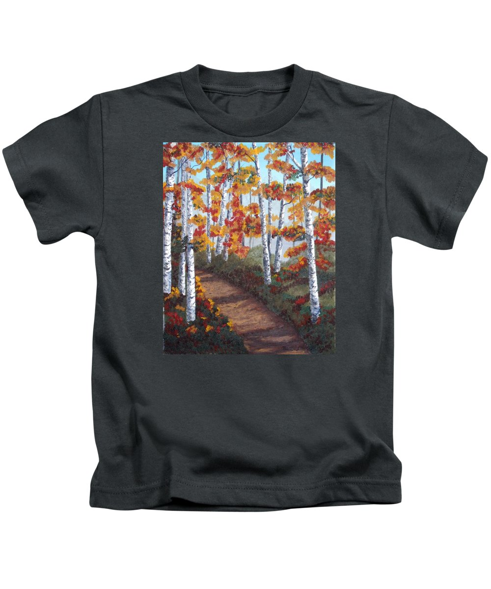 Fall Kids T-Shirt featuring the painting Solitude by Brandy House