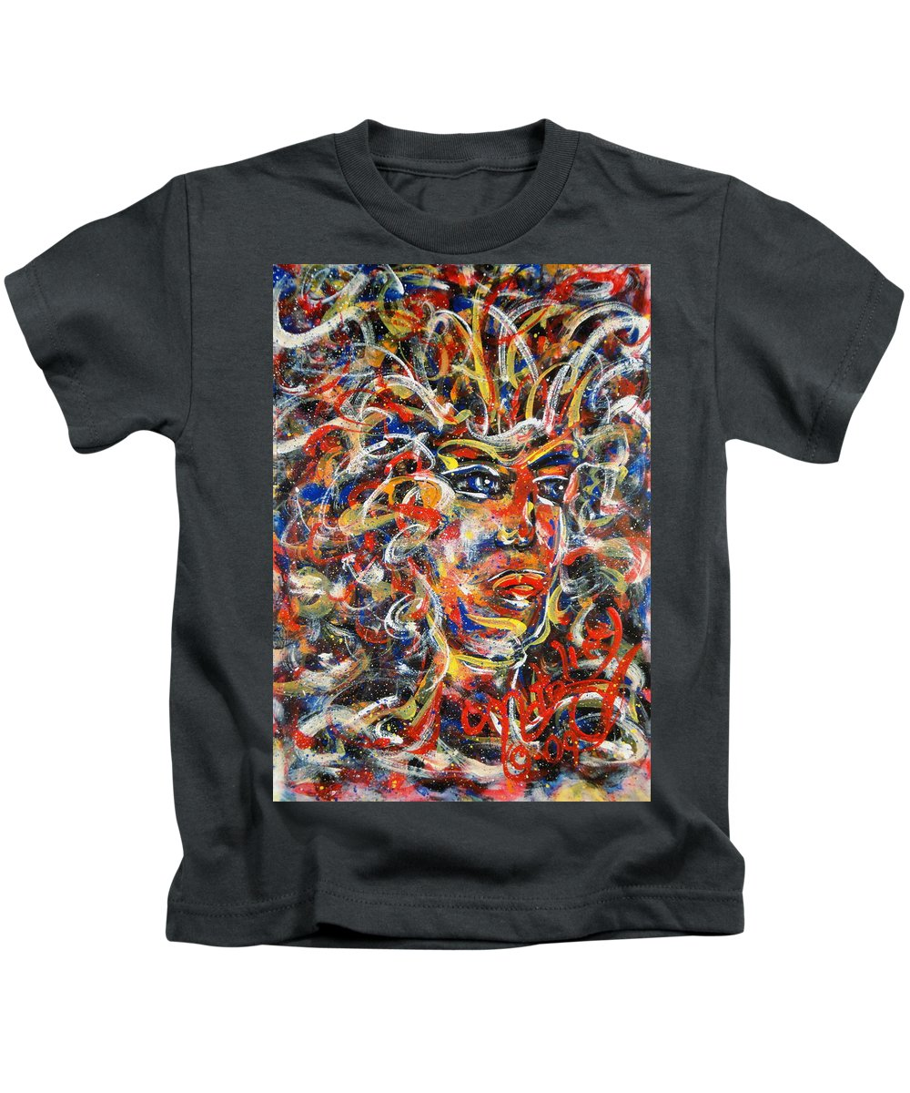 Free Expressionism Kids T-Shirt featuring the painting Sophia by Natalie Holland