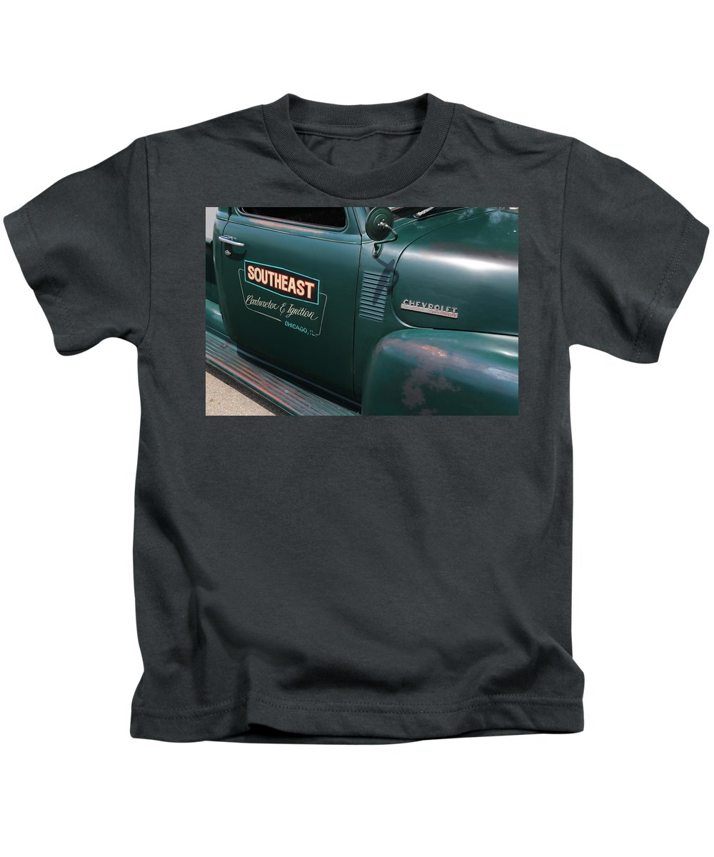 Digital Kids T-Shirt featuring the photograph Southeast Carburetor by Jeff Roney