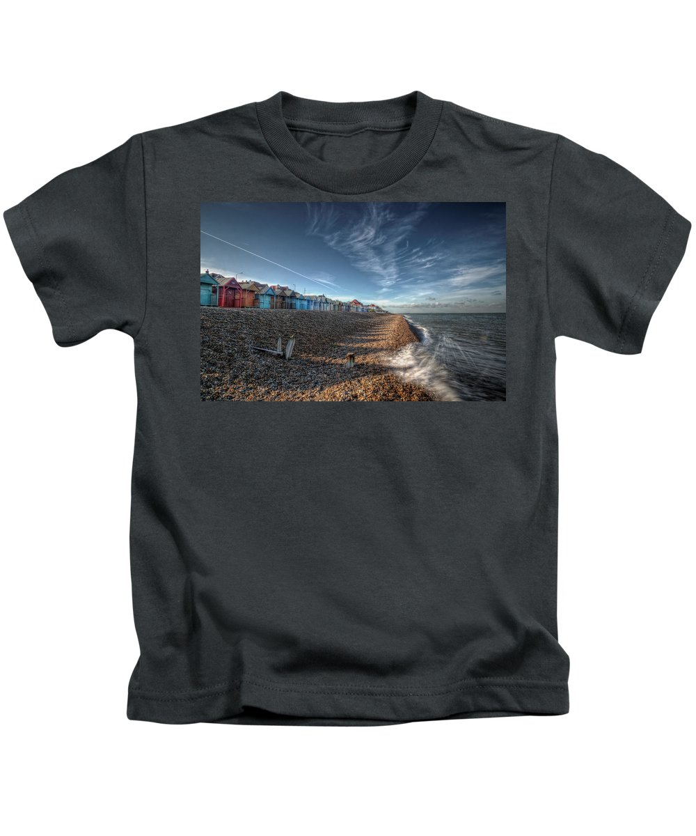 Southend Kids T-Shirt featuring the digital art Southend On Sea by Nigel Bangert