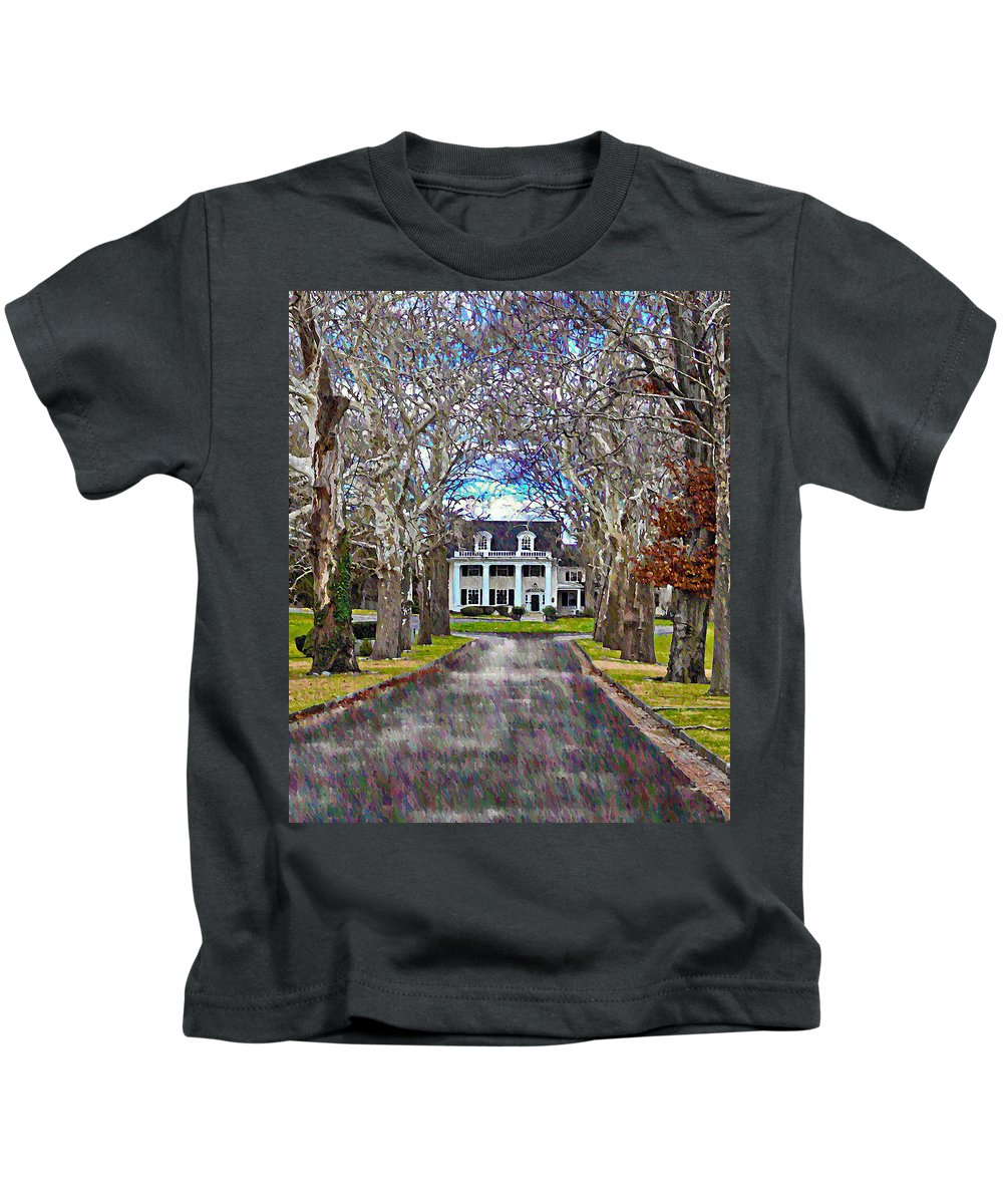 Plantation Kids T-Shirt featuring the photograph Southern Gothic by Bill Cannon