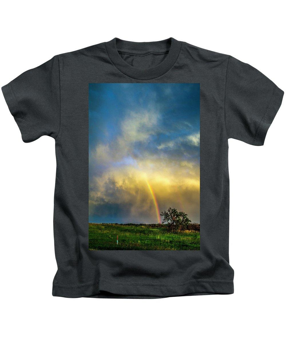 Nebraskasc Kids T-Shirt featuring the photograph Southwest Nebraska Chase Day 047 by NebraskaSC