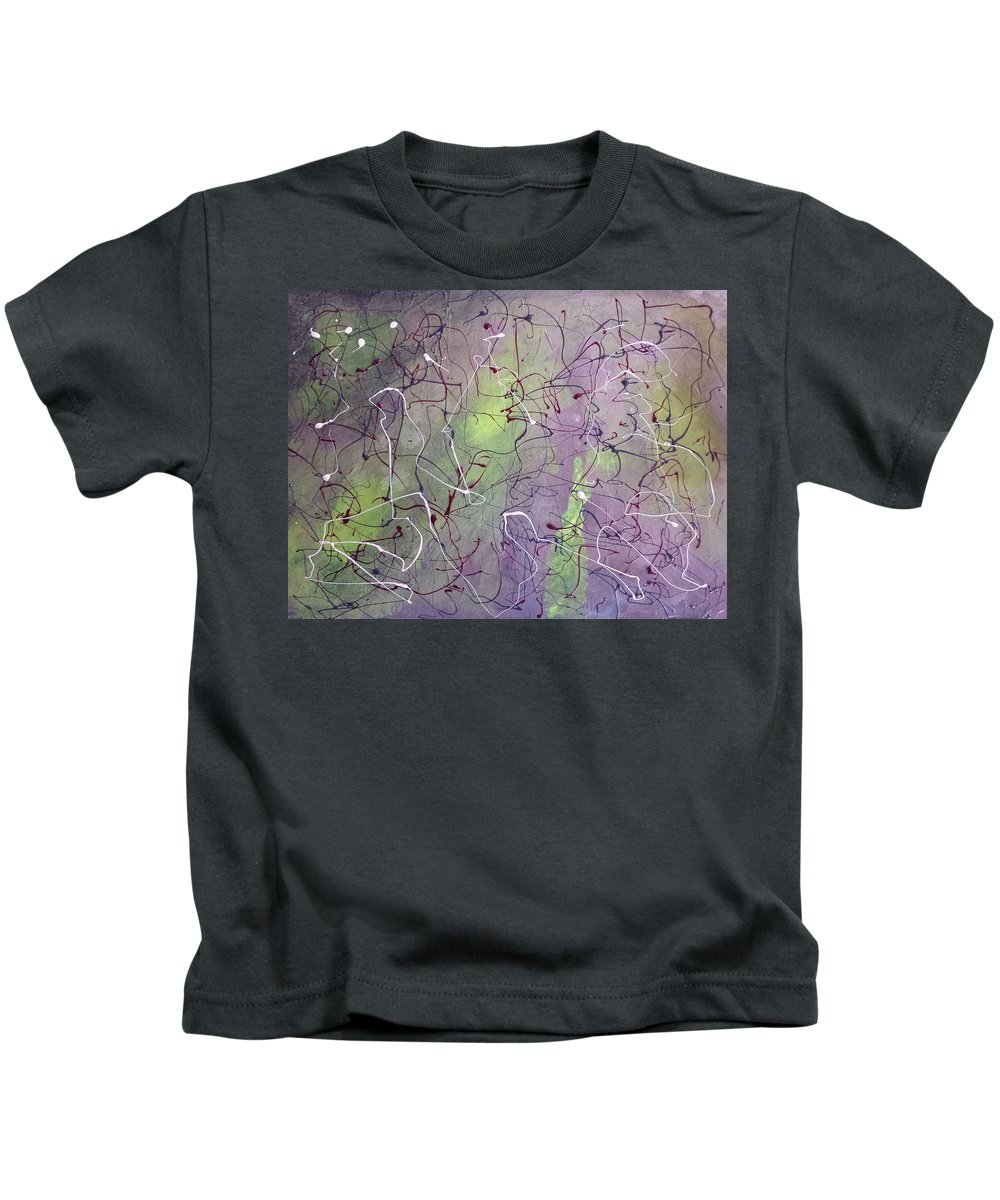 Abstract Kids T-Shirt featuring the painting Freedom #6 by Lorena Sher