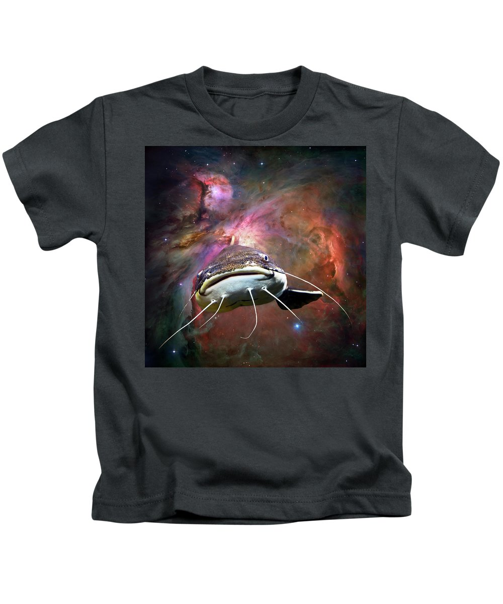 Catfish Kids T-Shirt featuring the photograph Space Fish by Art Phaneuf