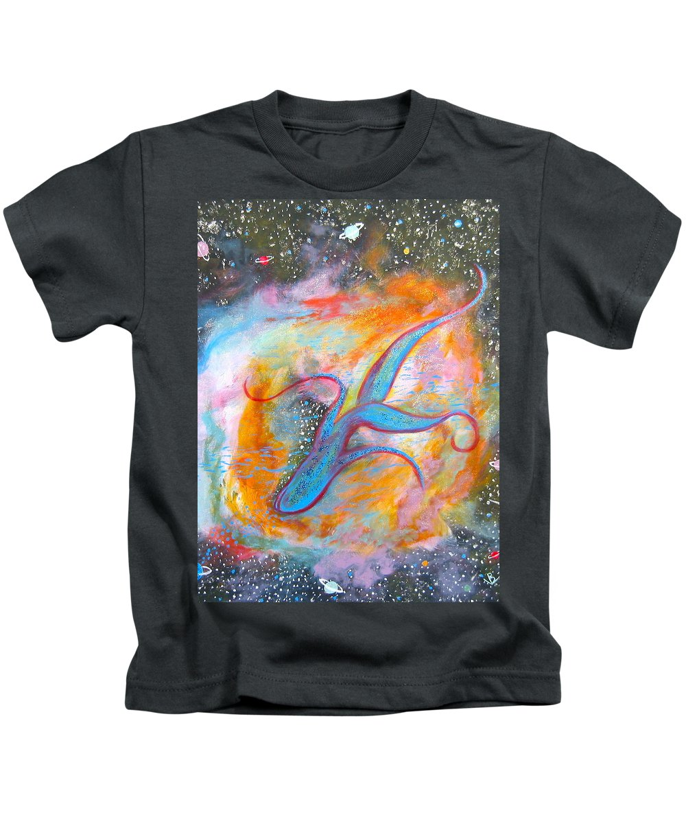 Space Kids T-Shirt featuring the painting Space Ocean by V Boge