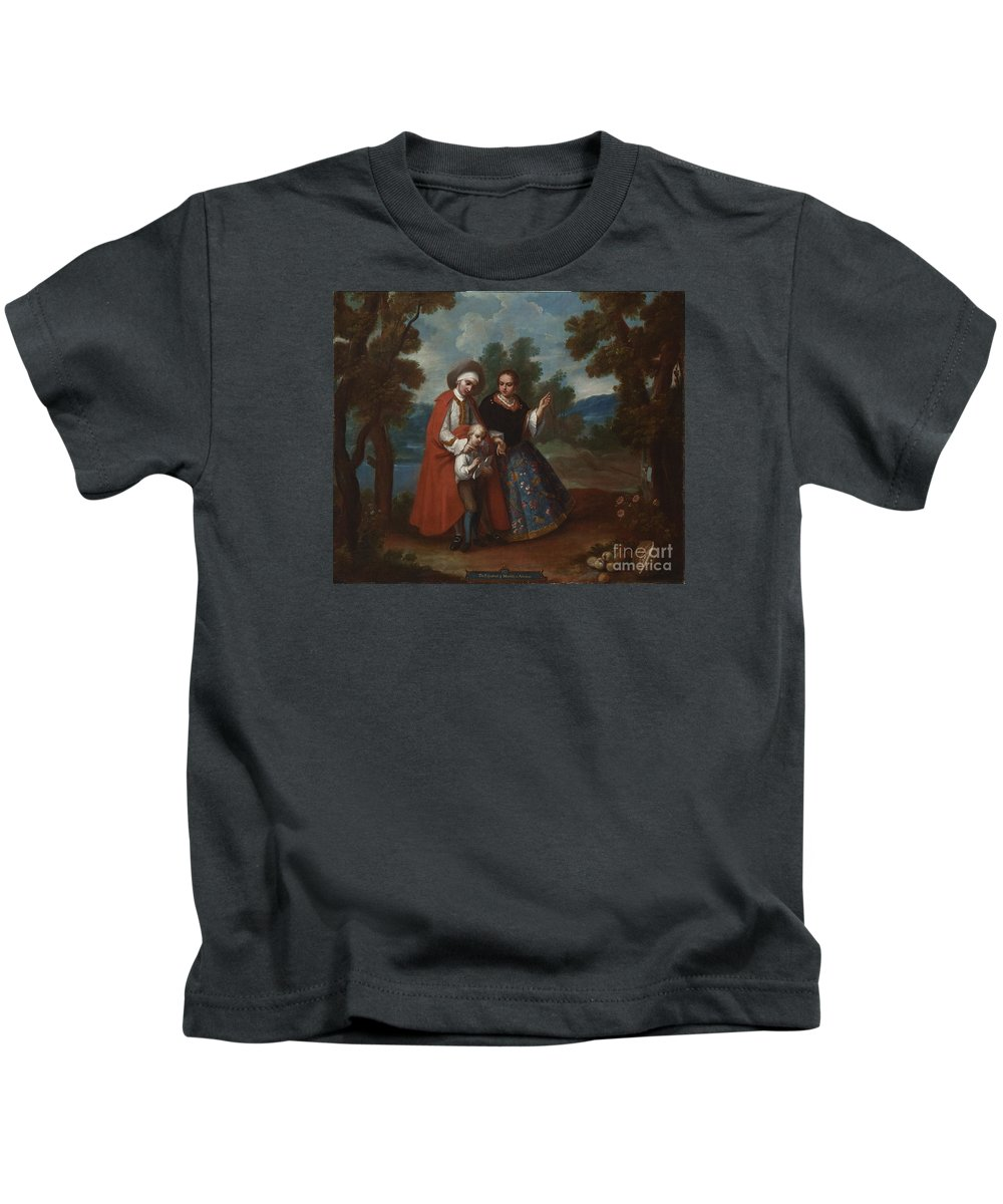 Vii. From Spaniard And Morsica Kids T-Shirt featuring the painting Spaniard And Morsica by Celestial Images