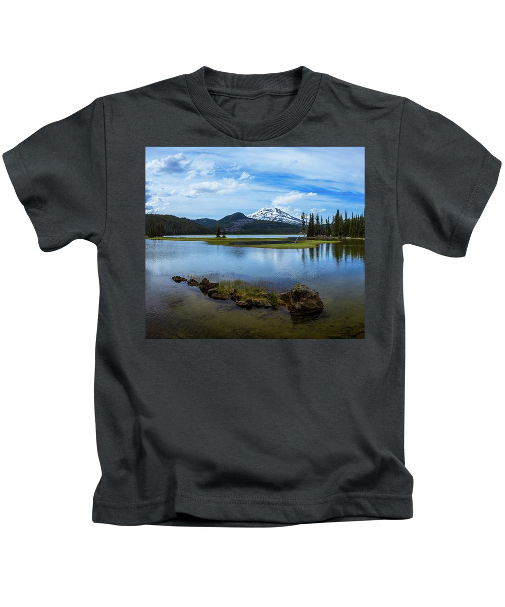 Oregon Kids T-Shirt featuring the photograph Sparks Lake, Oregon by Steven Clark