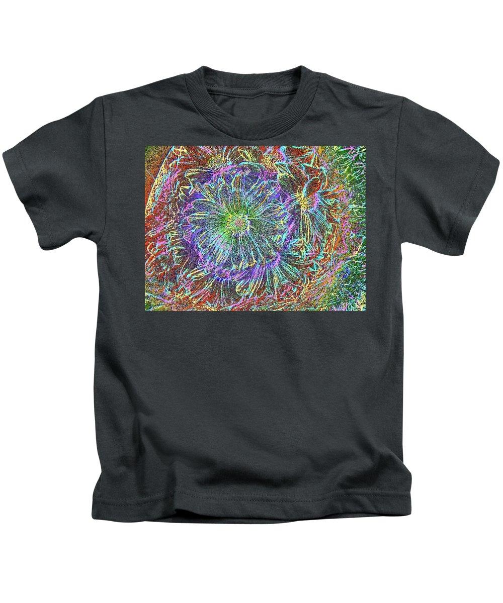Flowers Kids T-Shirt featuring the digital art Splendid Florish by Tim Allen