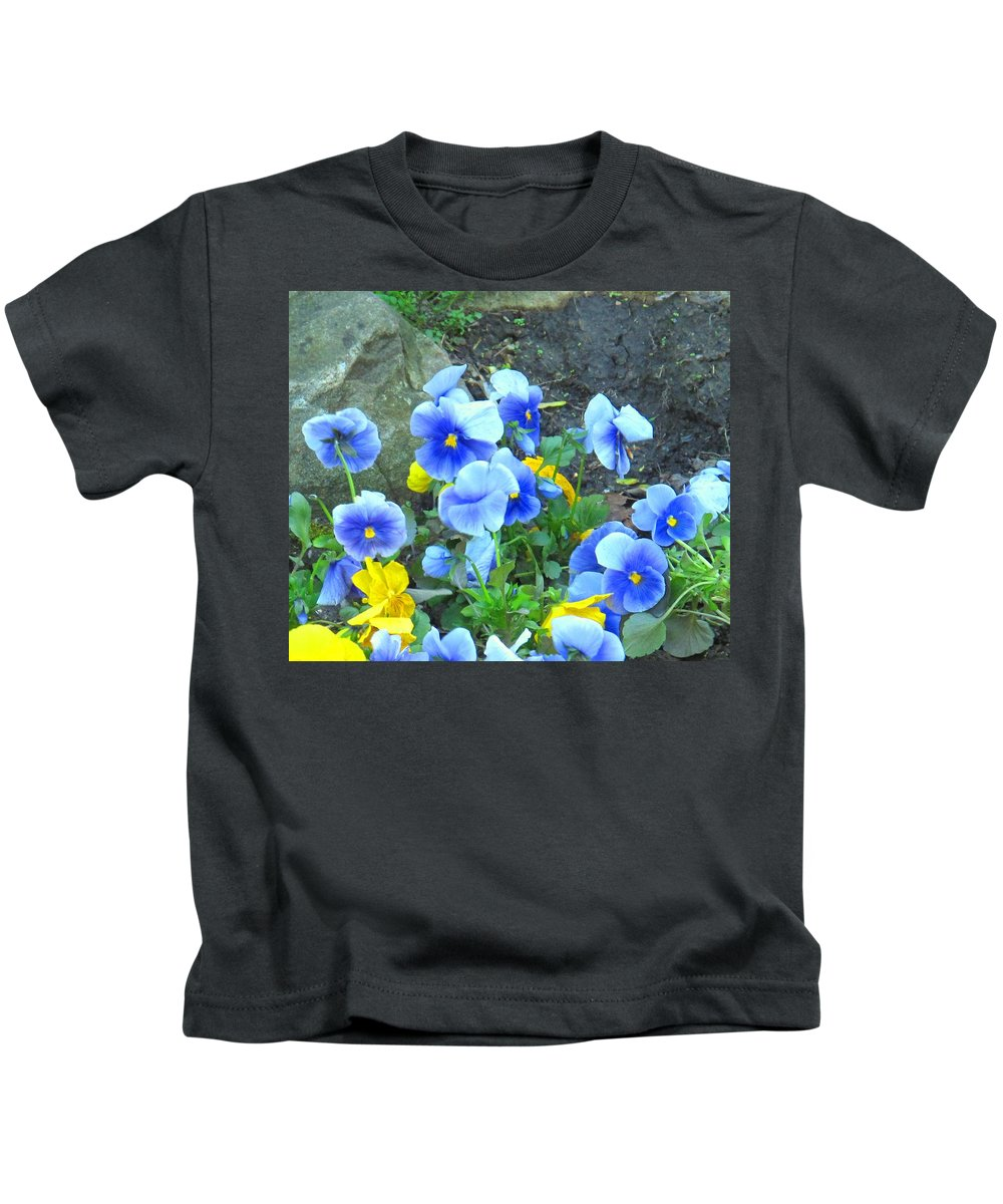 Blue Kids T-Shirt featuring the photograph Spring Beauties by Ian MacDonald