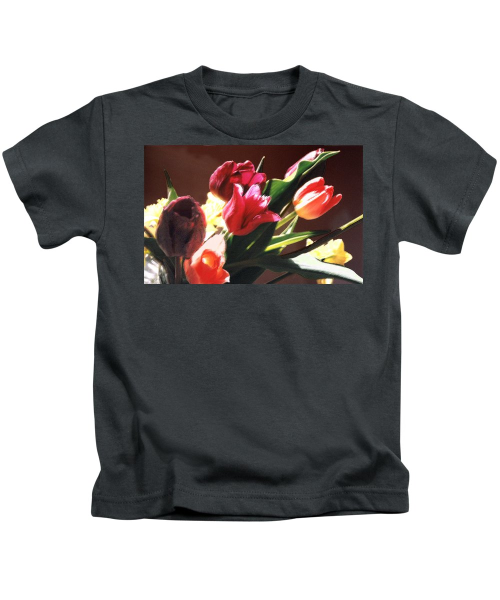 Floral Still Life Kids T-Shirt featuring the photograph Spring Bouquet by Steve Karol